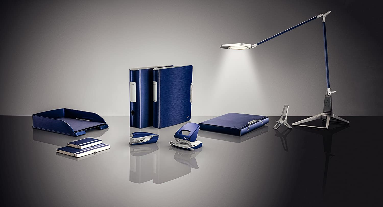 Style NeXXt Metallo 50066028 30 fogli Leitz Perforatore per ufficio Rosso Granato Guida di arresto con sistema di fissaggio