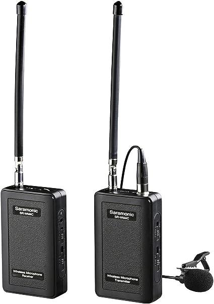 Saramonic SR-WM4C - Micrófono de Solapa inalámbrico VHF, Color ...