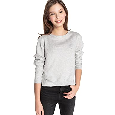 e52175170d92 La Redoute Collections Big Girls Fine Gauge Knit Jumper Sweater with Slogan  On Back