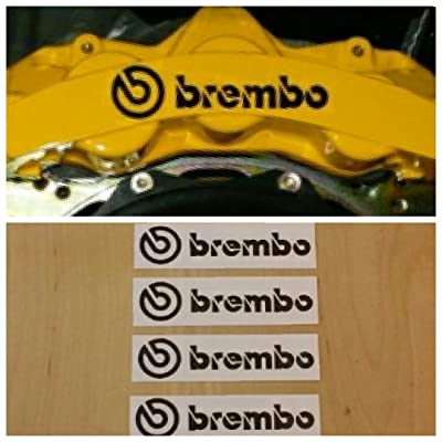 Brembo Brake Caliper HIGH TEMP Decal Sticker Set of 4 (Black): Everything Else