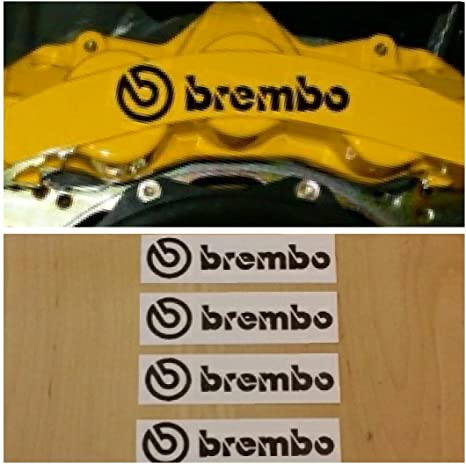 Brembo Black Vinyl Decal//Sticker 4 in x .9 in Cut Out Stencil