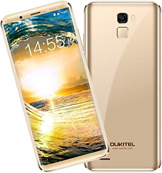 "Móvil Libre Barato,Oukitel K5000 Smartphone 4G Barato Sin Marcos Android 7.0 5000mAh 5,7""HD OctaCore SONY 16MP +SAMSUNG 21MP Cámara 4GB RAM+64GB ROM 2.5D Vídrio Huella Digital (Oro): Amazon.es: Electrónica"