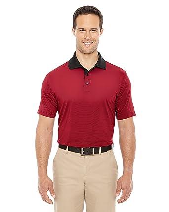 adidas Climalite Stripe Polo Piqué Camiseta de - A119, Negro/Rojo ...