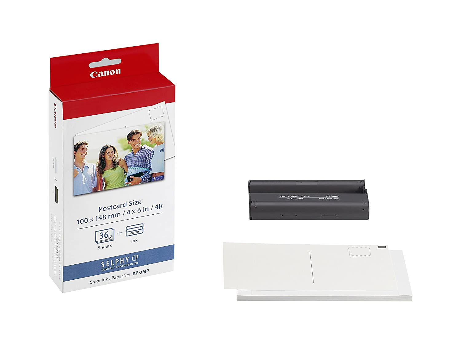 Canon Selphy Ink and Postcard Paper Set (7737A001) Canon - Supplies 7737A001AB