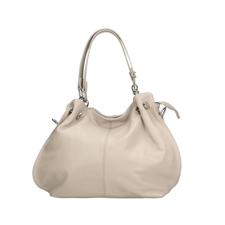 608a59dd06 Aren Shoulder Bag Borsa a Spalla da Donna in Vera Pelle Made in italy -  38x30x12