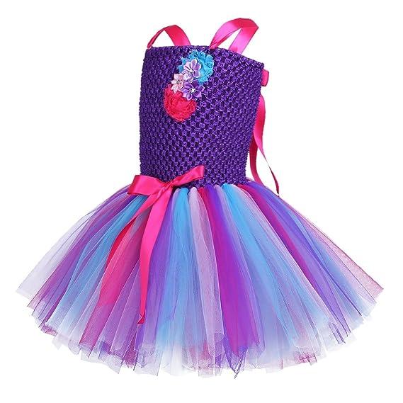 inlzdz Disfraz de Unicornio para Niñas Vestido Princesa ...