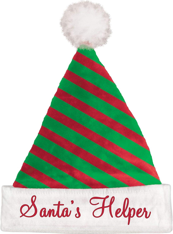 Mini Candy Cane Striped Santa Hat  Headband Christmas Elf Hat One Size