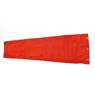 "Airport Windsock Corporation 8"" X 36"" Orange Replacement Windsock 100% USA Made: Home & Kitchen"