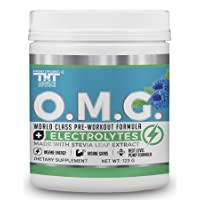 OMG Preworkout with Organic Caffeine and Creatine for Men and Women   Electrolytes...