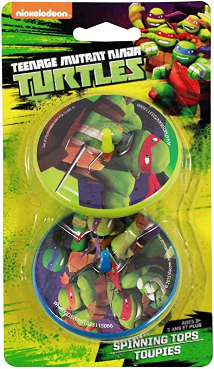 Amazon.com: Teenage Mutant Ninja Turtles 2 Spinning Tops ...