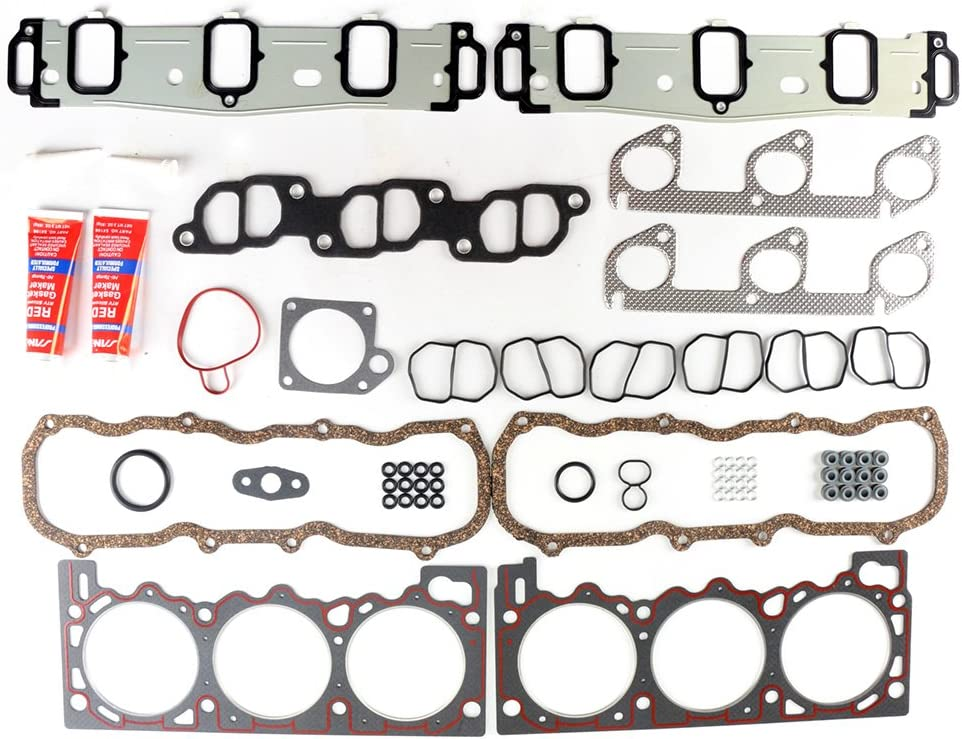 ECCPP Compatible fit for Head Gasket Set fit 1991-2001 Ford Ranger Aerostar Mazda 3.0L VIN U V Automotive Replacement Engine Head Gaskets Kit