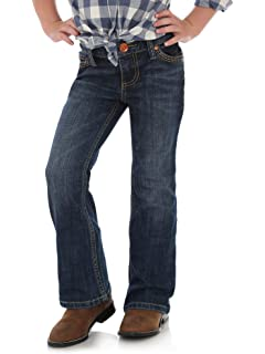 42eafe299 Amazon.com: Levi's Girls' 715 Thick Stitch Bootcut Jean: Girls ...