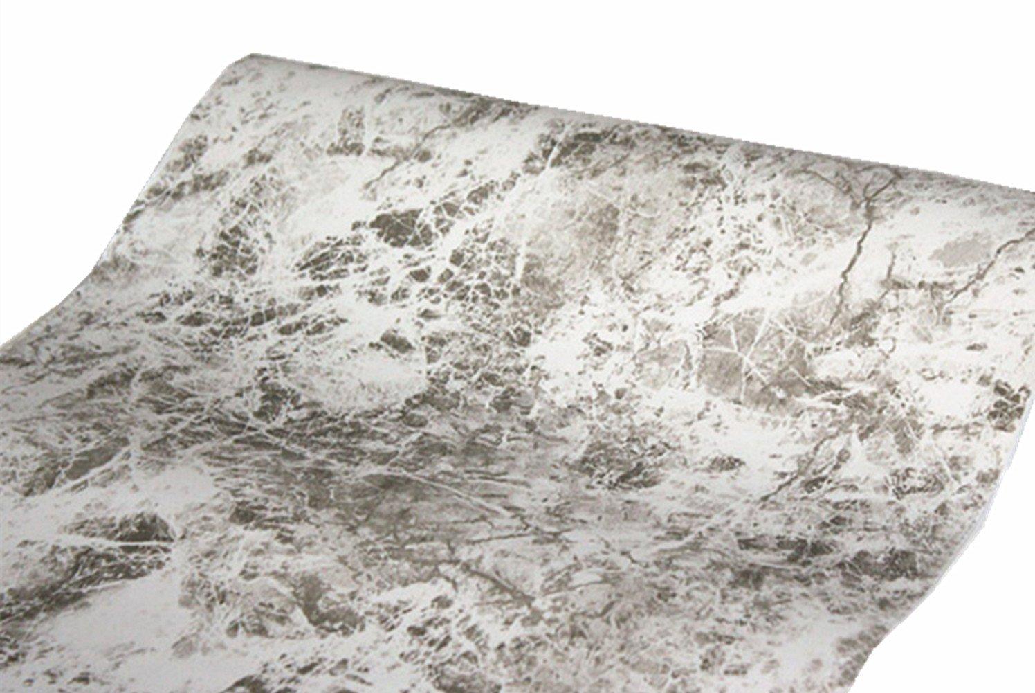 wdragon selbstklebend hellbraun gebrochenen Marmor, Vinyl glänzend ...