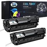 Cool Toner 2 Pack New Compatible HP Q2612A 12A Black Toner Cartridge For HP LaserJet 1020 1012 1022 3015 1018 Printer