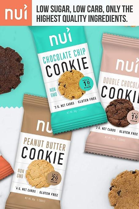 Nui Cookies bocadillos Keto, bajo en carbohidratos, bajo en ...
