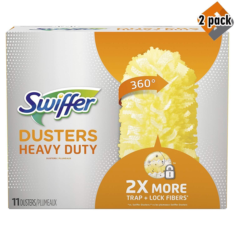 Swiffer 360 Dusters, Heavy Duty Refills, 11 Count - 2 Pack