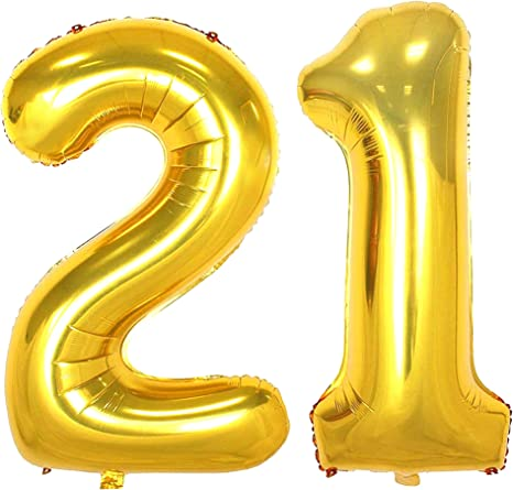 Number 1 JUMBO 40 inch Gold Number Mylar Balloon  Giant Gold Foil Balloon  Birthday Celebration Giant Balloons
