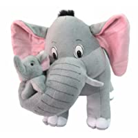 Tickles Grey Mother Elephant With Single Baby Stuffed Soft Plush Toy 41 Cm