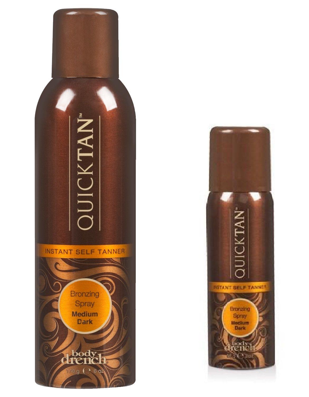 Body Drench Quick Tan Instant Self Tanning Spray Medium Dark, 8 Ounces (Pack of 3)