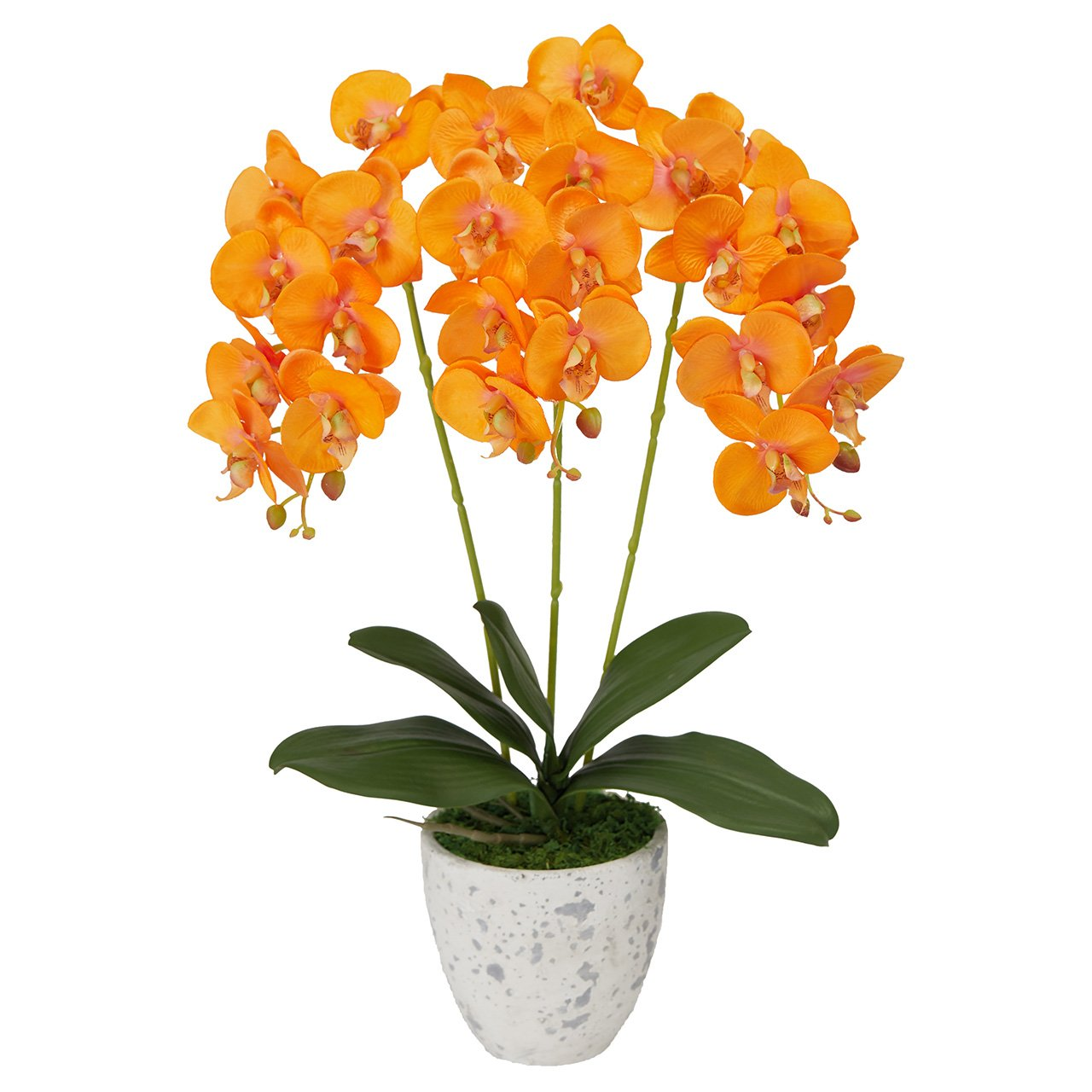 MAGIQ 東京堂 上質な造花 ピュアオーキッド3本立て 光触媒 #オレンジ ZV008080-009 B07B4DD82B オレンジ オレンジ
