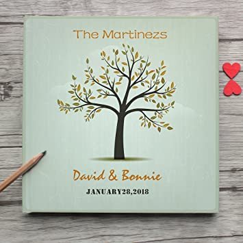Amazon Unique Tree Personalized Wedding Guest Book Alternative