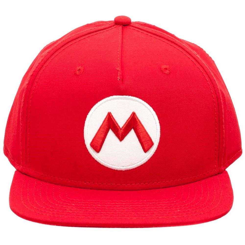 8b7ee6041c1 Amazon.com  Nintendo Officially Licensed Super Mario Red Snapback Baseball  Cap  Sports   Outdoors