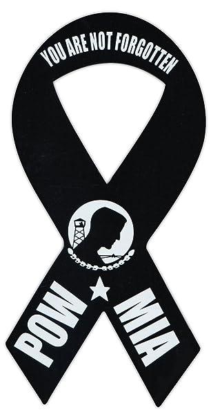 Amazon.com: Cinta Shaped Imán Militar – POW MIA you are not ...