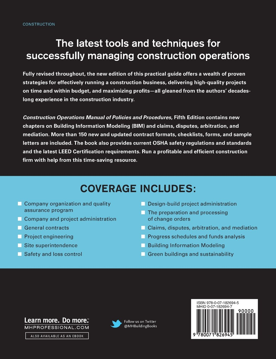 Construction Operations Manual Of Policies And Procedures Fifth
