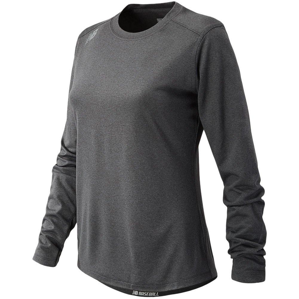 新しいバランスの女性の長袖ワークアウトテックTシャツ B01NCOWGAP X-Small|ダークヘザー ダークヘザー X-Small