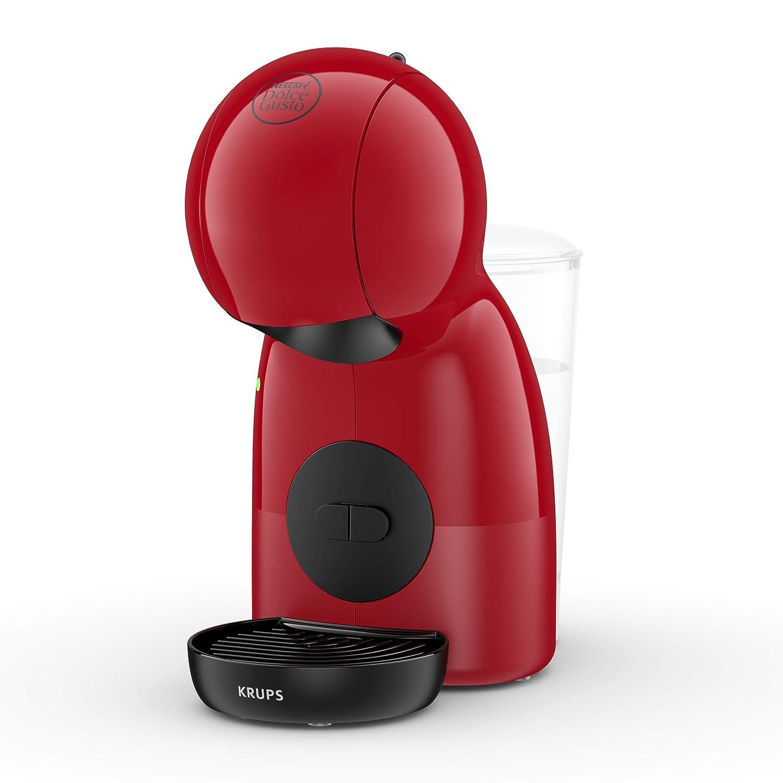 Pack Krups Dolce Gusto Piccolo XS KP1A05SC - Cafetera de cápsulas, 15 bares de presión, color rojo + 3 packs de café Dolce Gusto Con Leche