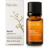 Myrrh Essential Oil (Egypt) - 100% Pure, Organic, Natural & Therapeutic Grade for Aromatherapy Diffuser, Health Skin and Relaxtion - 10ml - Gya Labs