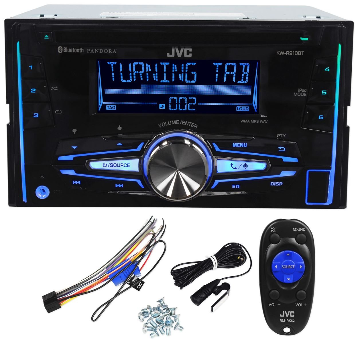 Jvc kw r910bt double din car cd am fm player receiver w bluetooth iphone android amazon in electronics