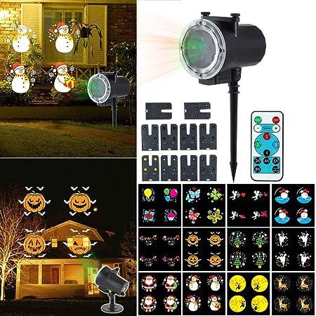 Teepao - Lámpara de proyector LED para Halloween con 12 ...