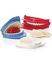 Prepworks from Progressive International Dough Press Set Medium Red/White/Teal