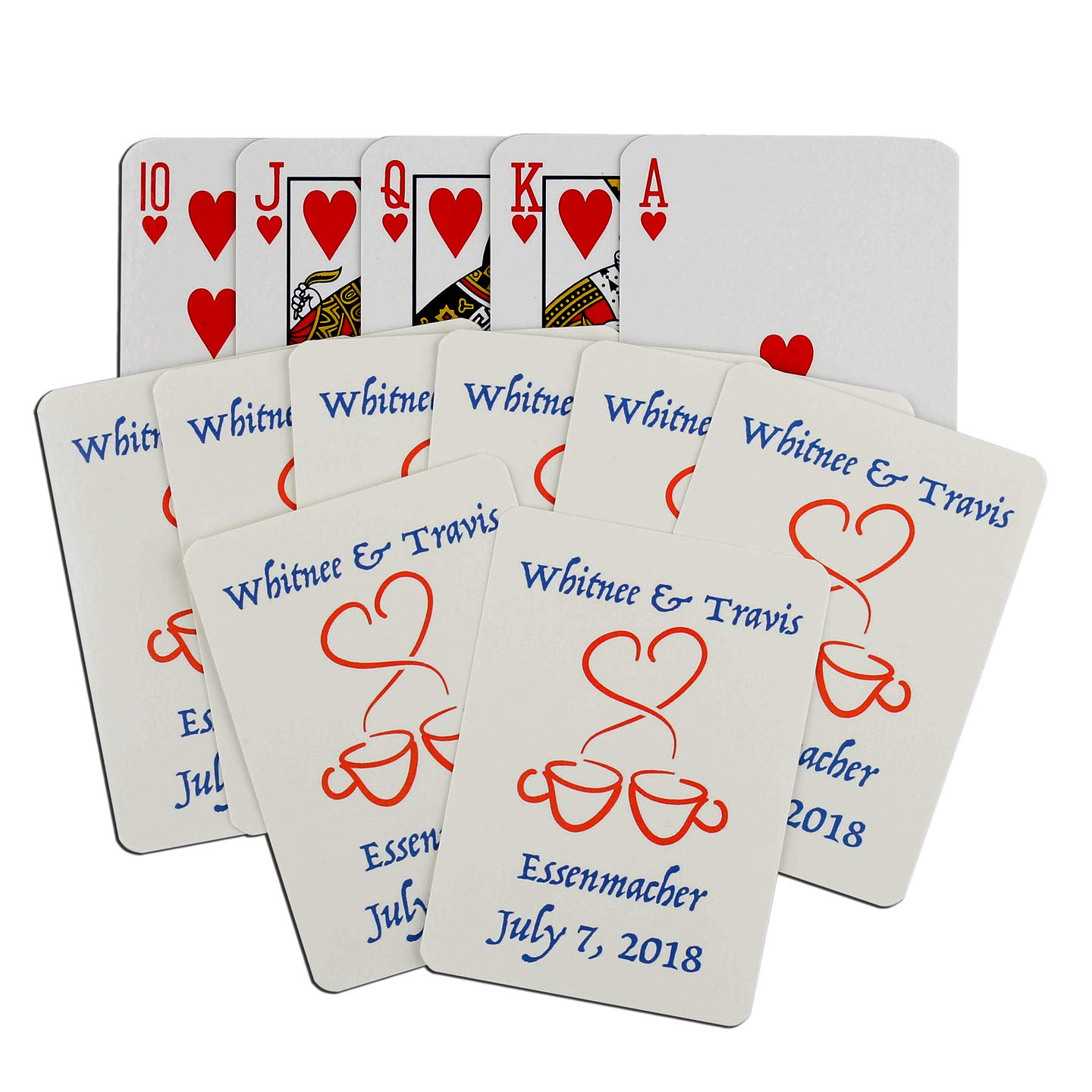 50 Decks You're On Deck Personalized Playing Cards, Custom Deck of Cards- Family, Weddings, Fundraisers, Corporate Events, Bar/Bat Mitvahs, Clear Plastic Storage Case (2 1/2'' x 3 1/2'')