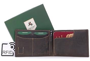 f0b4125b6 VISCONTI - JET 726 - Cartera portadocumentos con protección de datos RFID y  bolígrafo - Cuero Hunter - Marrón: Amazon.es: Zapatos y complementos