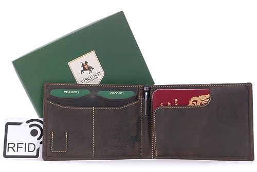 VISCONTI - JET 726 - Cartera portadocumentos con protección de datos RFID y bolígrafo - Cuero Hunter - Marrón: Amazon.es: Zapatos y complementos