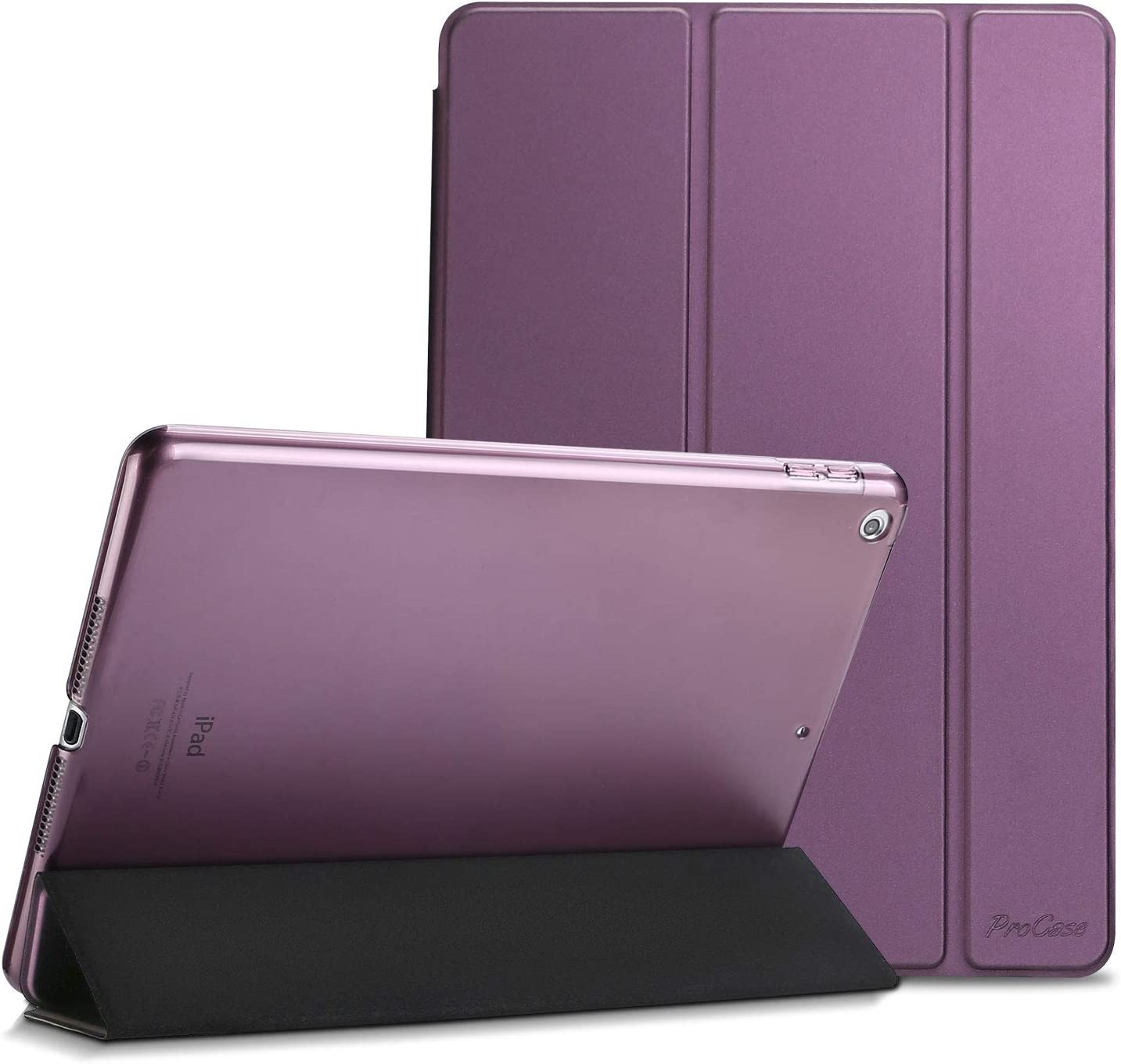 ProCase iPad 9.7 Case 2018 iPad 6th Generation Case / 2017 iPad 5th Generation Case - Ultra Slim Lightweight Stand Case with Translucent Frosted Back Smart Cover for Apple iPad 9.7 Inch –Purple