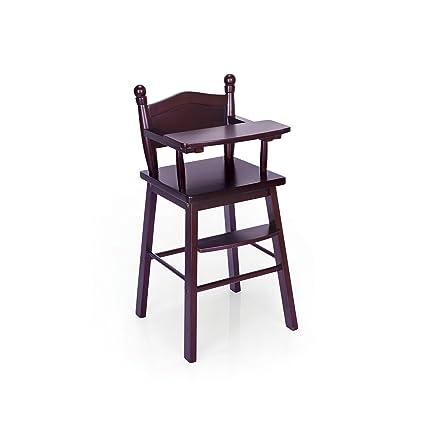Guidecraft Espresso   Dark Cherry Wooden Doll High Chair   Fits 18u0027  American Girl Dolls
