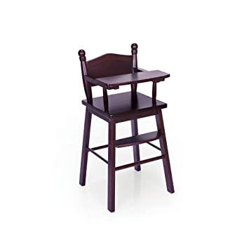 bbd836e4ea16 Image Unavailable. Image not available for. Color  Guidecraft Espresso -  Dark Cherry Wooden Doll High Chair ...