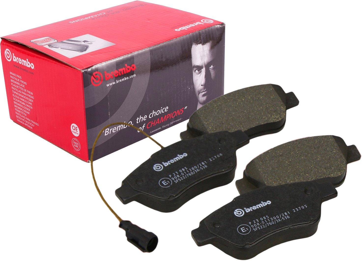 Pastiglie pattini pasticche freno freni anteriori Brembo P23085 con contatto segnalazione usura - Materiale d' attrito per freni