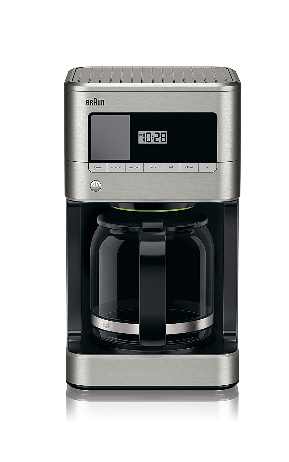 Braun KF7070 BrewSense Drip Glass Coffeemaker, 12 Cup, Stainless Steel (Renewed)