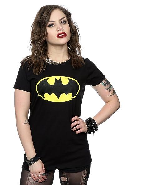 1ea4107d DC Comics Women's Batman Logo T-Shirt X-Large Black at Amazon Women's  Clothing store: