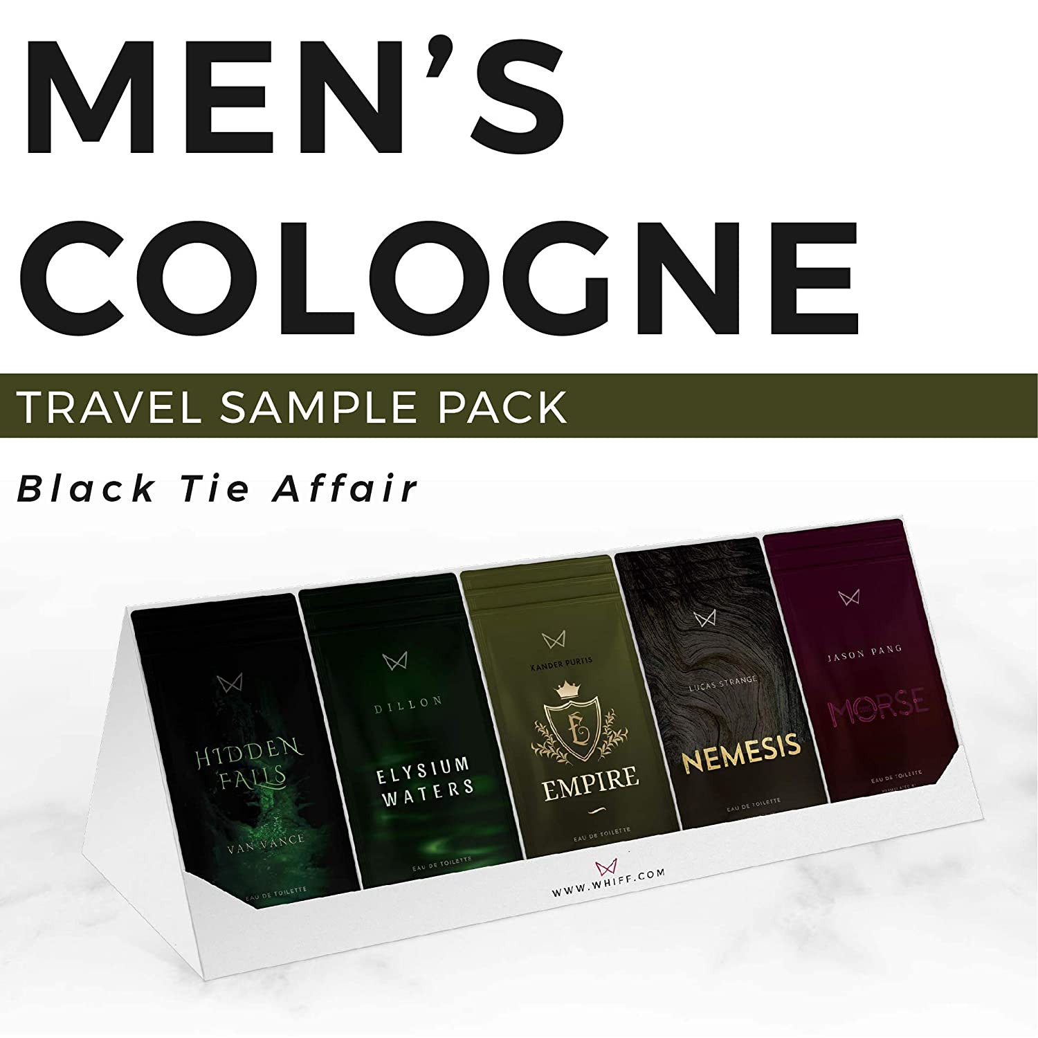 Mens Cologne Sample Travel Pack of 15 to go Scents, TSA approved travel size