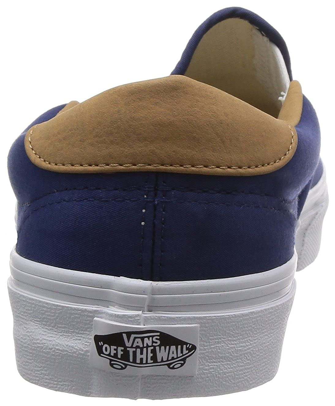 Vans HerrenDamen U Authentic (Washed) Black Sneakers, Rosso