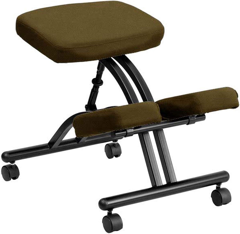 LCLLXB - Silla de oficina ergonómica para silla de montar a caballo con postura positiva para aprendizaje de la silla de ordenador