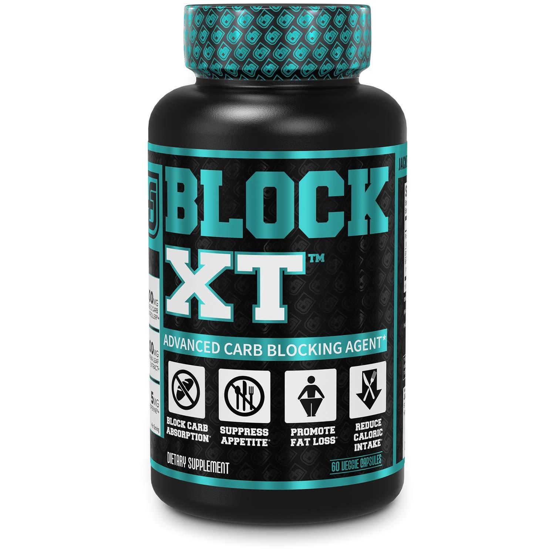 BLOCK XT Carb Blocker for Weight Loss | w/ Phase 2 White Kidney Bean & Gymnema Extract | 60 Natural Keto Friendly Veggie Diet Pills