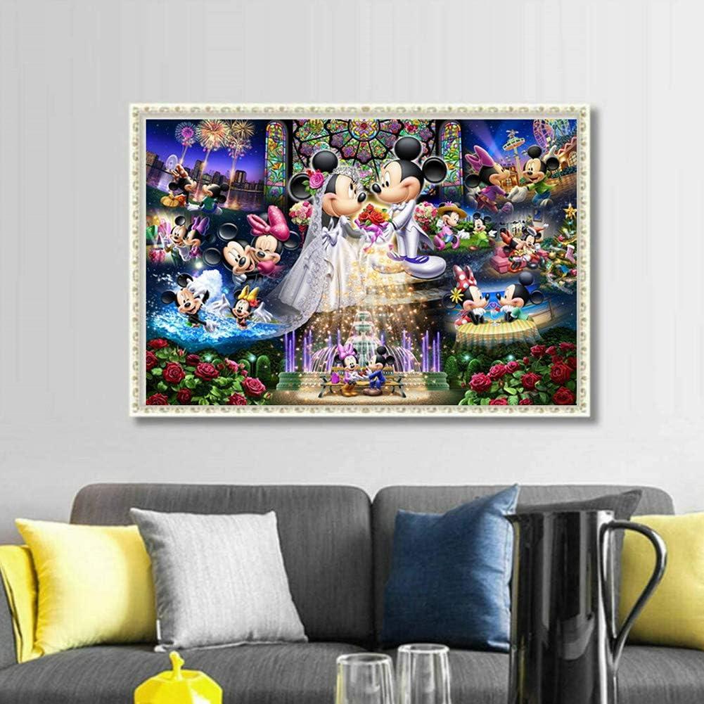 Dessin au Diamant,Mickey Peinture au diamant 5D,Disney Point de Croix Diamant,Id/éal pour Home D/écoration murale 30 x 40 cm Diamond