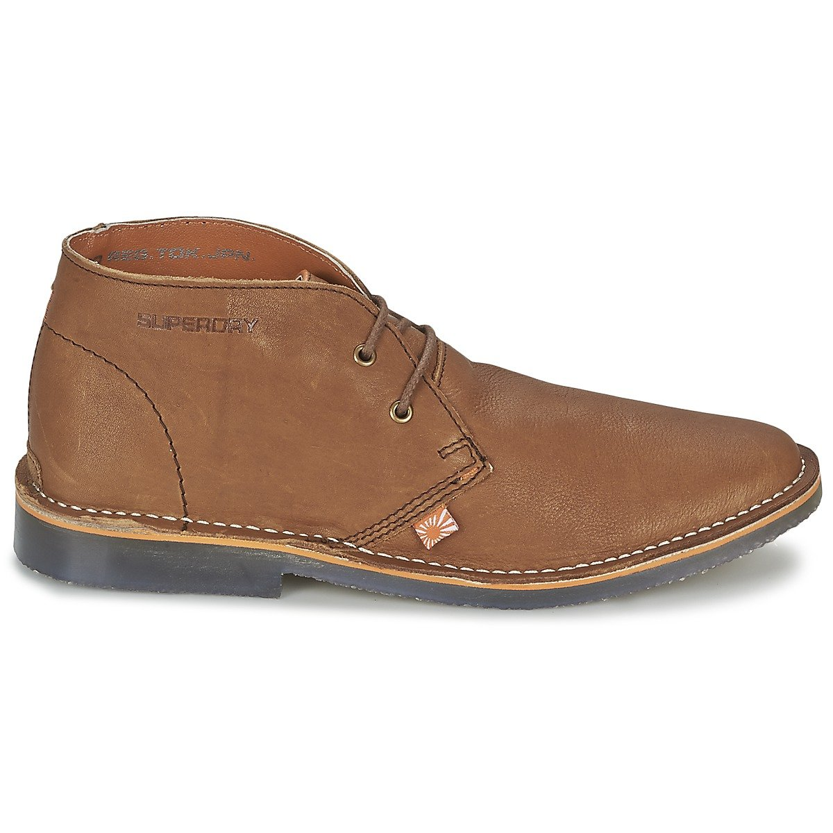 SUPERDRY mens KALAHARI LEATHER BOOT Brown Leather Ankle