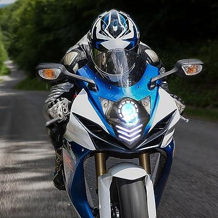 GSXR600 Sixty61 Headlight Halos for Suzuki GSXR 600 750 2011-2019 CCFL Angel Eyes light ring kit Blue GSXR750